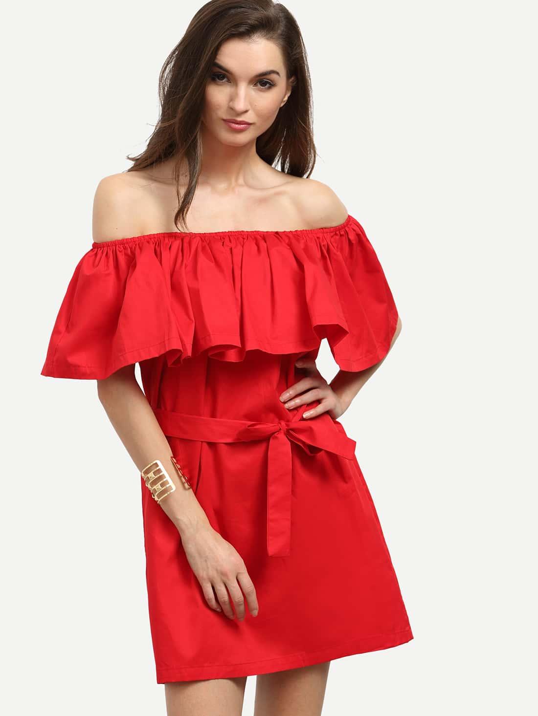 Платье С Воланом На Плечах Купить