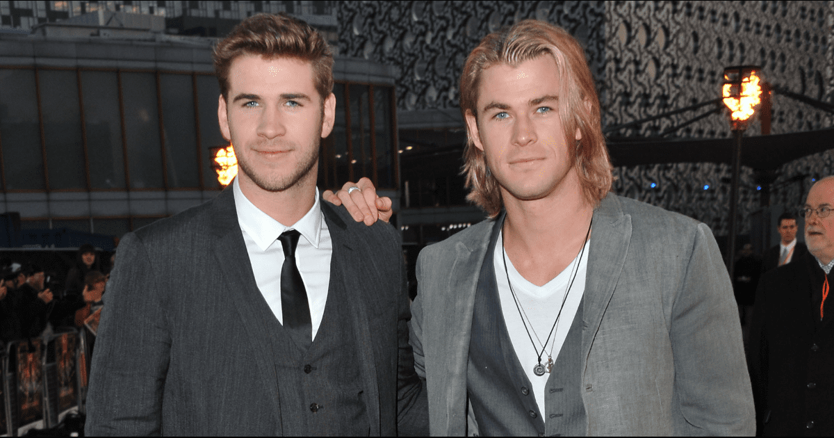 Liam hemsworth and chris hemsworth twins