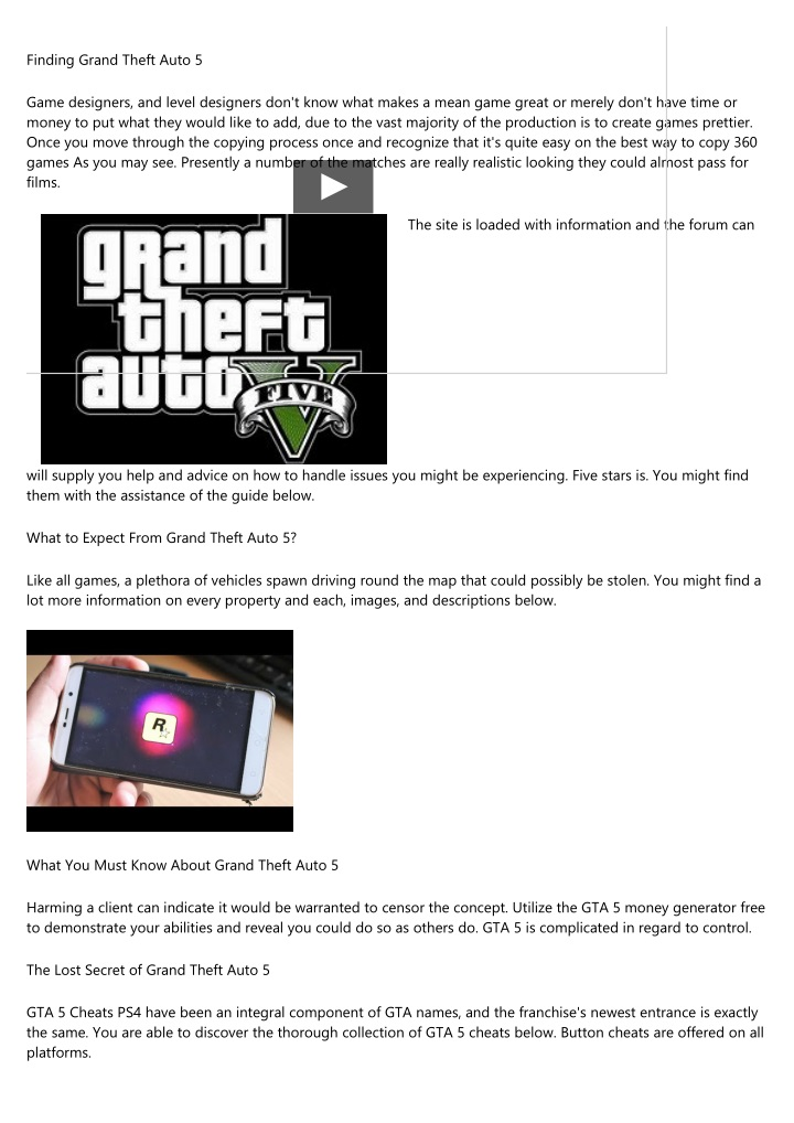 PPT - Ruthless Grand Theft Auto 5 Strategies Exploited
