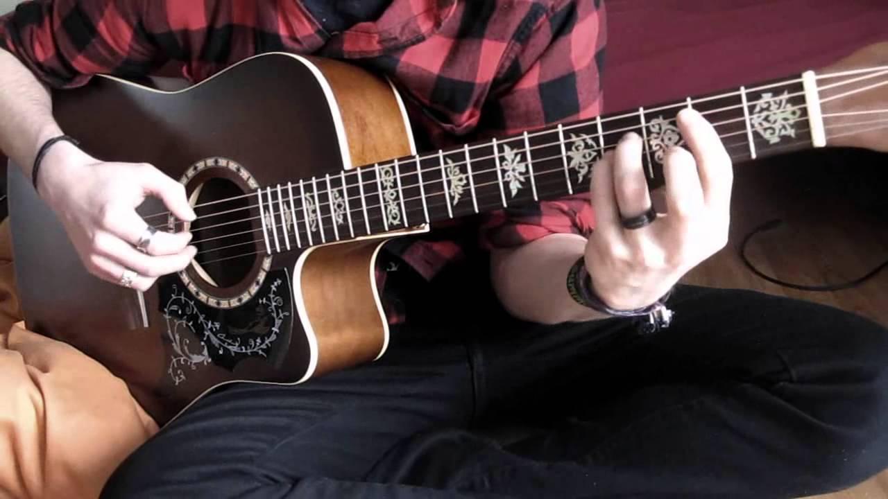 Kurt cobain playing acoustic guitar