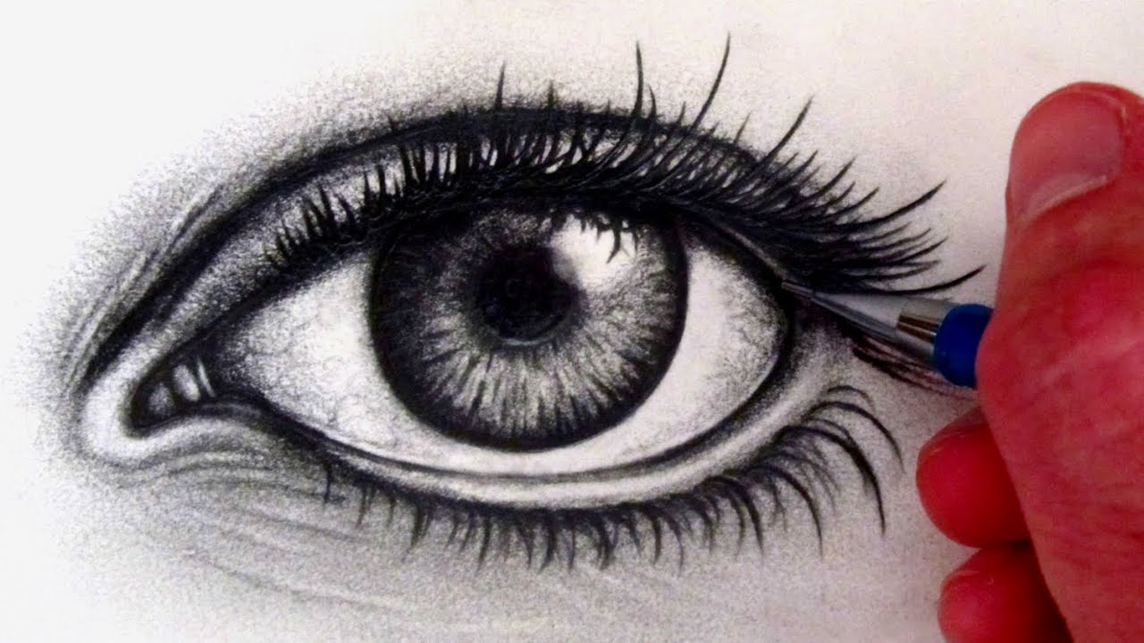 Powerful Eyes Drawing How to Draw a Realistic Eye