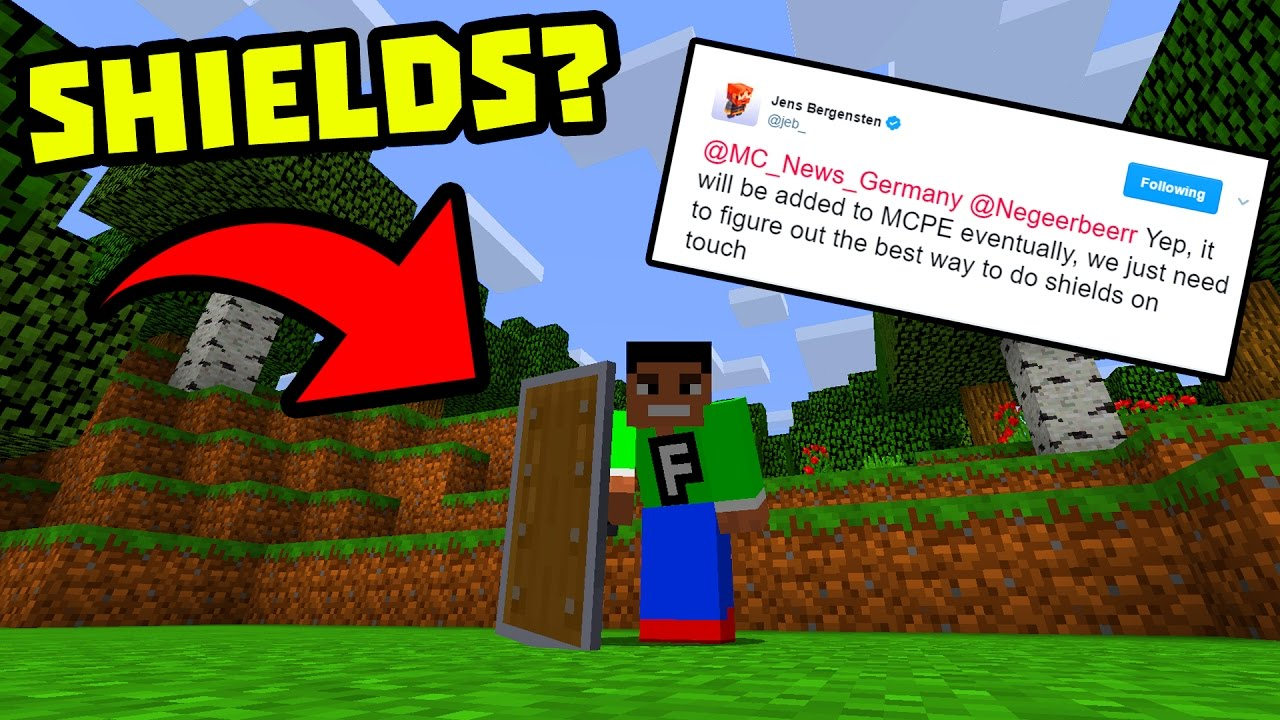 how to make a shield in minecraft pe