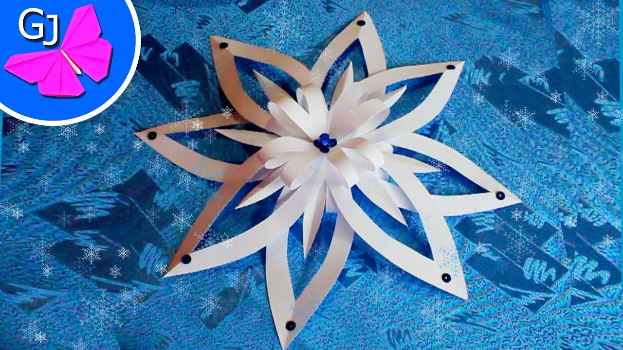 Paper Snowflake Tutorial DIY - YouTube - Linkis.com