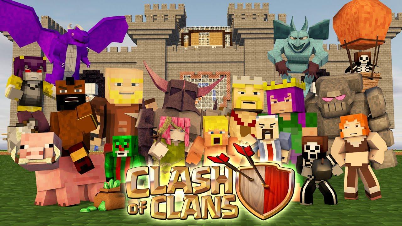 ПРЯТКИ НА КАРТЕ КЛЕШ ОФ КЛЕНС В МАЙНКРАФТ   Minecraft Hide and seek Clash of Clans map
