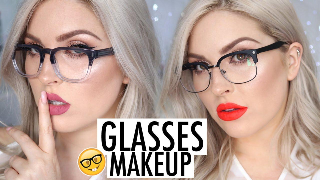 Makeup Tutorial for Glasses! LOOKBOOK Frames & Lipstick ...